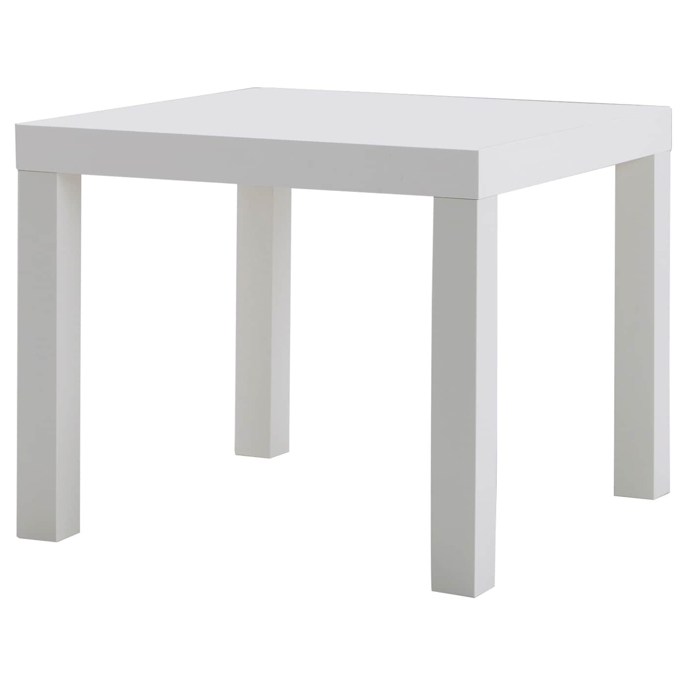 Lack side table white 55x55 cm ikea for Ikea table basse relevable