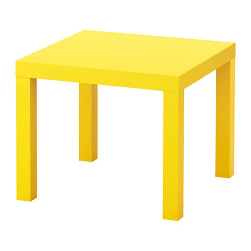 LACK Side table Yellow 55x55 cm