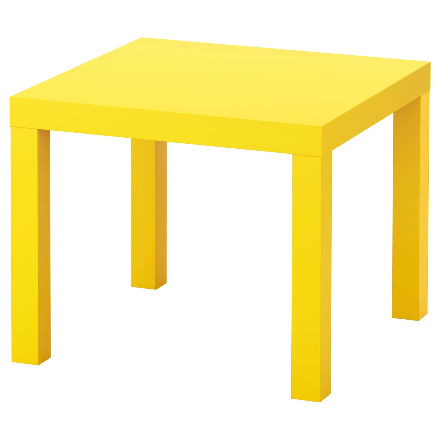 lack side table yellow 55x55 cm ikea. Black Bedroom Furniture Sets. Home Design Ideas