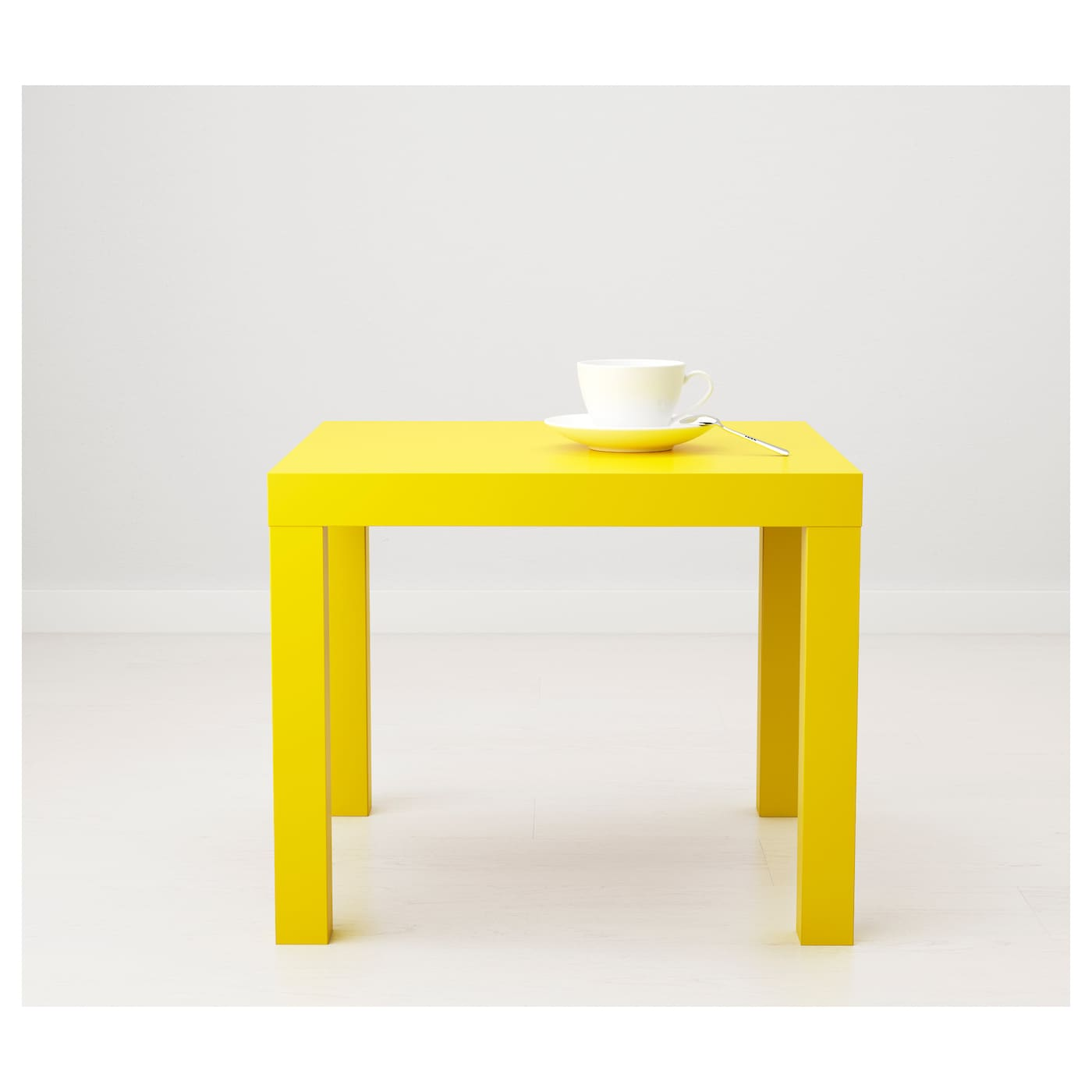 Lack Side Table Yellow 55x55 Cm Ikea