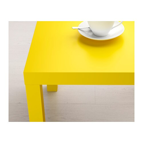 Lack side table yellow 55x55 cm ikea - Table reglable en hauteur ikea ...