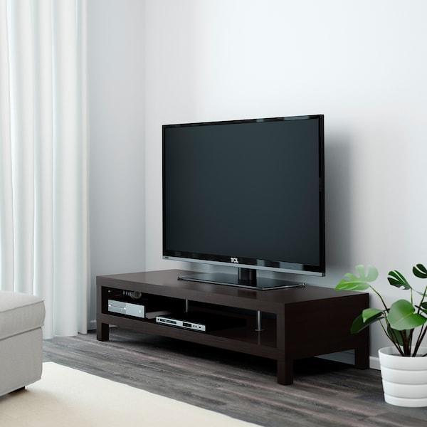 LACK TV bench, black-brown, 149x55x35 cm