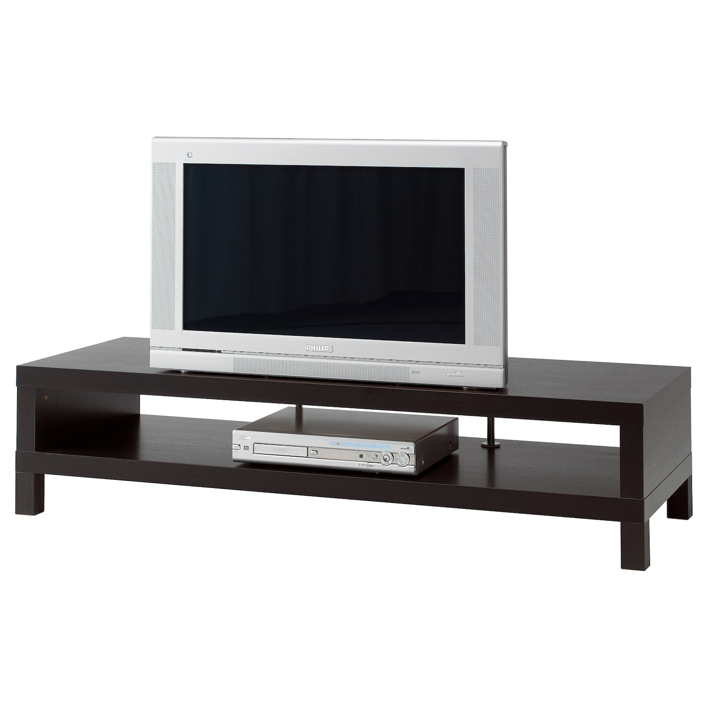 lack tv bench black brown 149x55 cm ikea