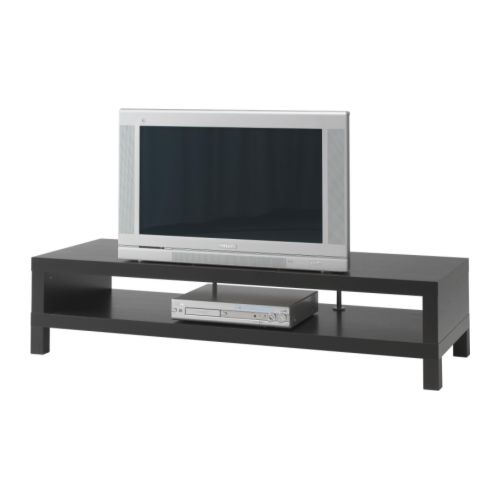 LACK TV bench IKEA Open back; makes cable organising easy.