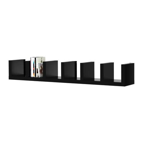 Lack wall shelf unit black 30x190 cm ikea - Ikea estanterias lack ...