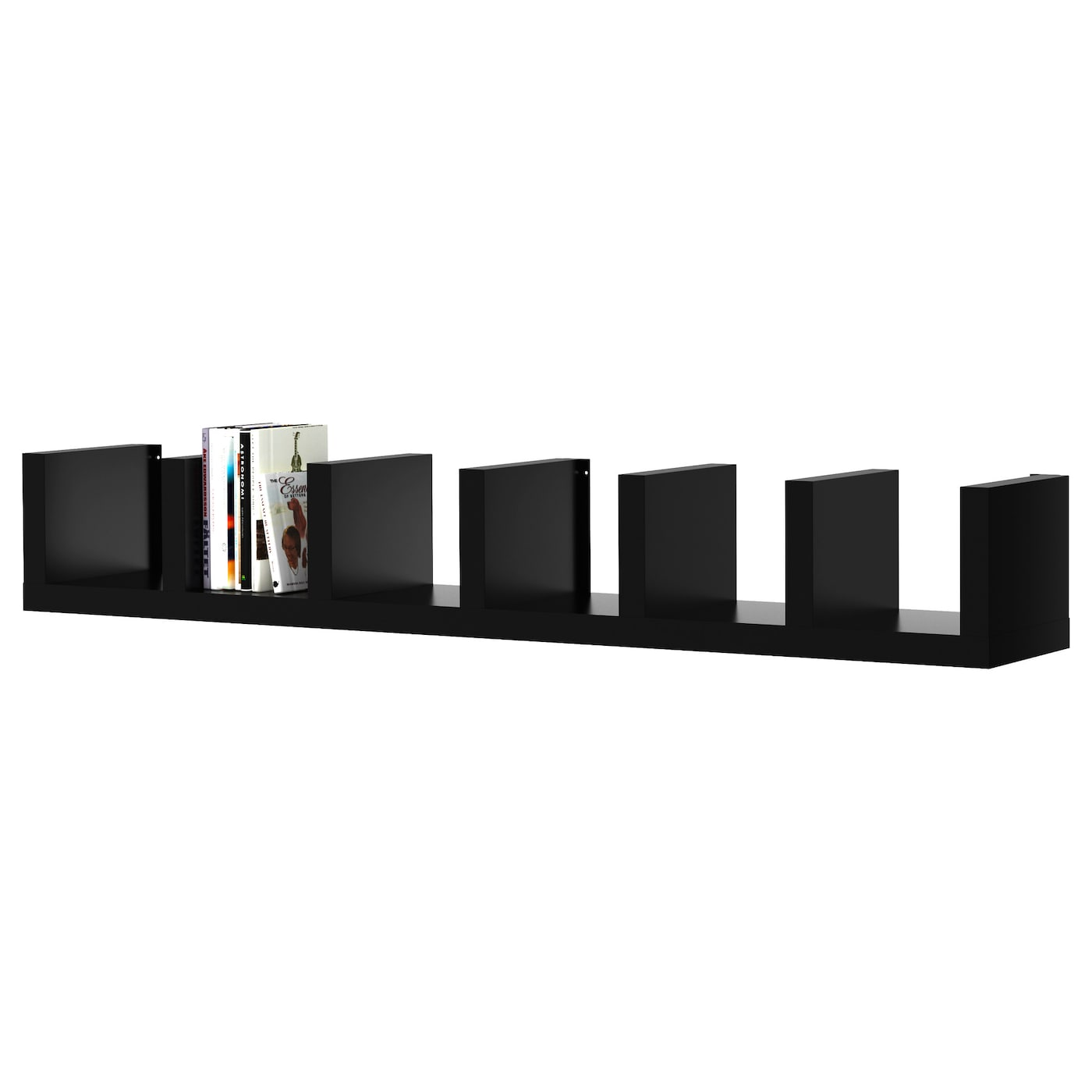 Lack wall shelf unit black 30x190 cm ikea for Mensole ikea lack