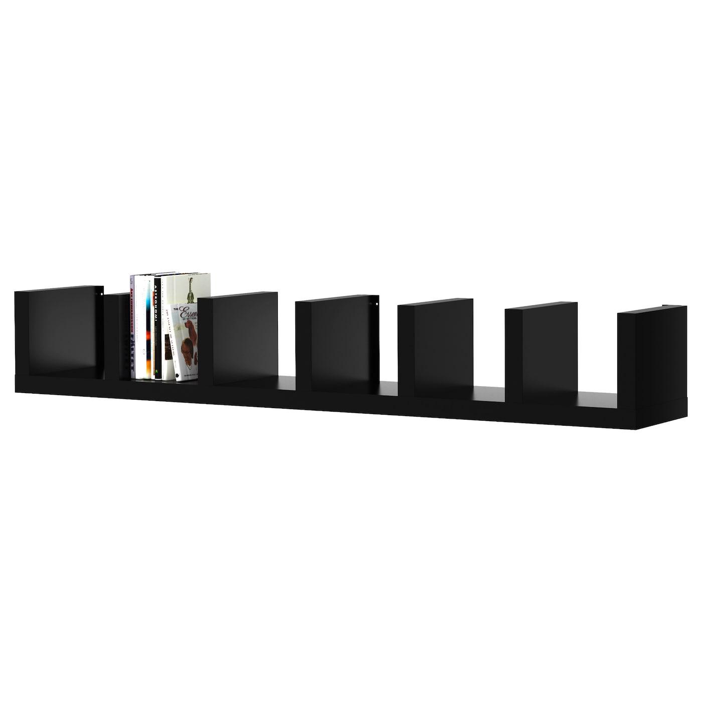 Lack wall shelf unit black 30 x 190 cm ikea - Libreria ikea lack ...