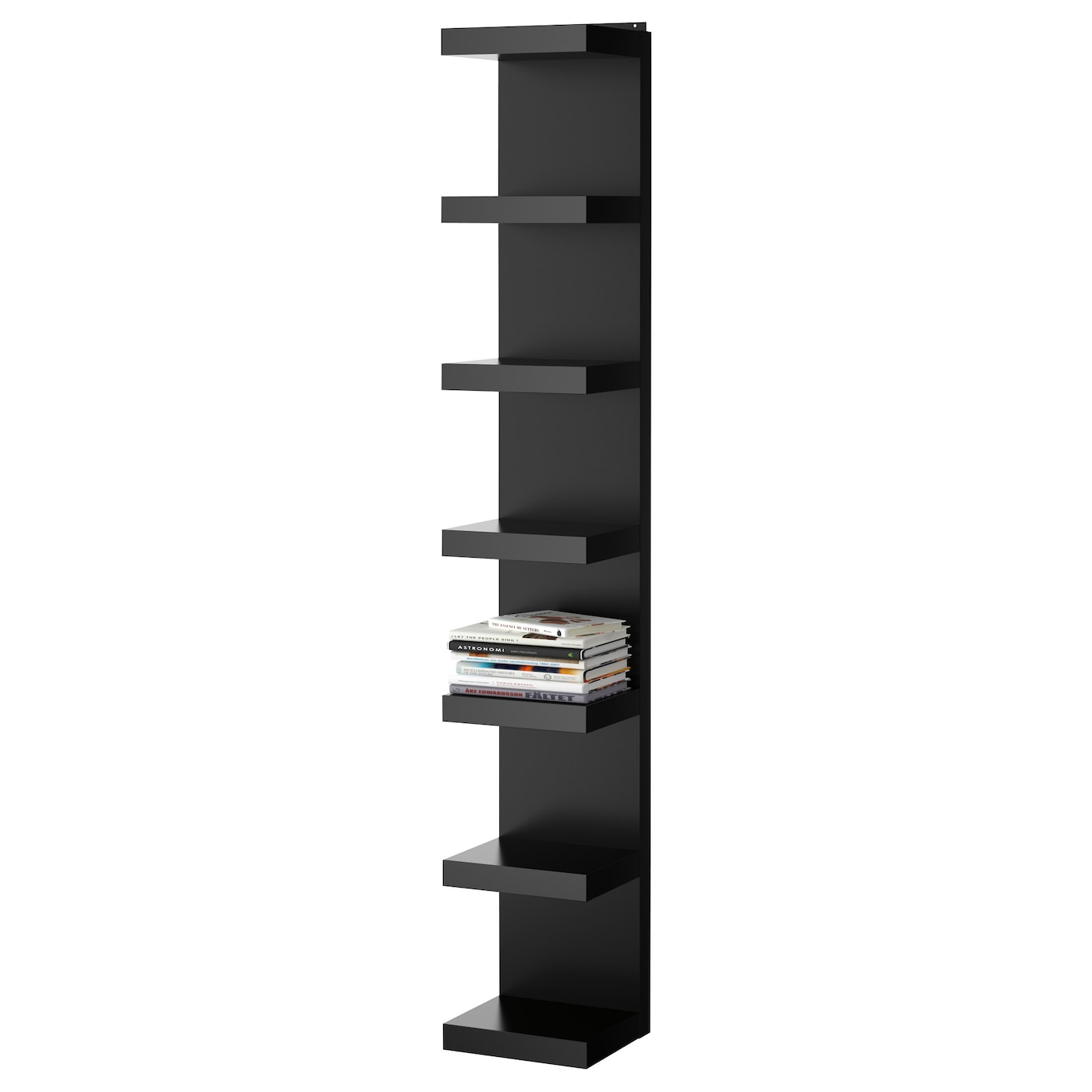 Lack wall shelf unit black 30x190 cm ikea for Etagere 50 cm de large