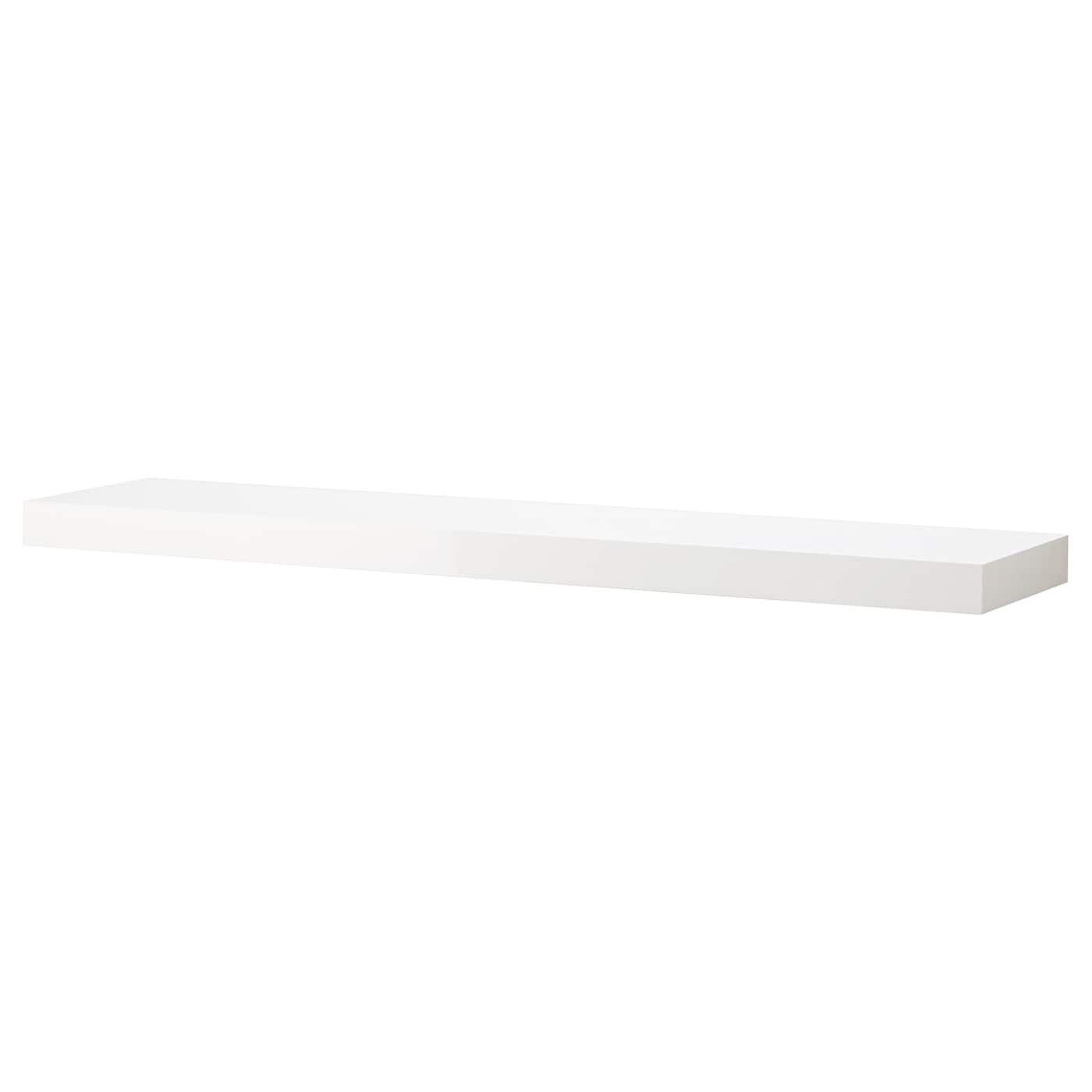 lack wall shelf white high gloss 110x26 cm ikea. Black Bedroom Furniture Sets. Home Design Ideas