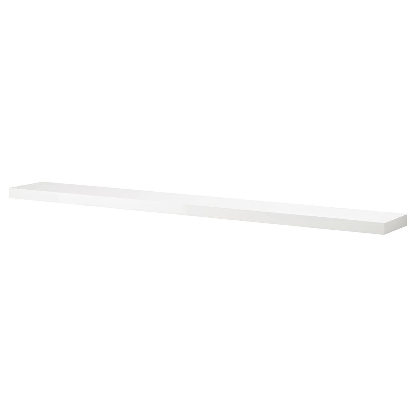 LACK Wall Shelf White/high-gloss 190 X 26 Cm