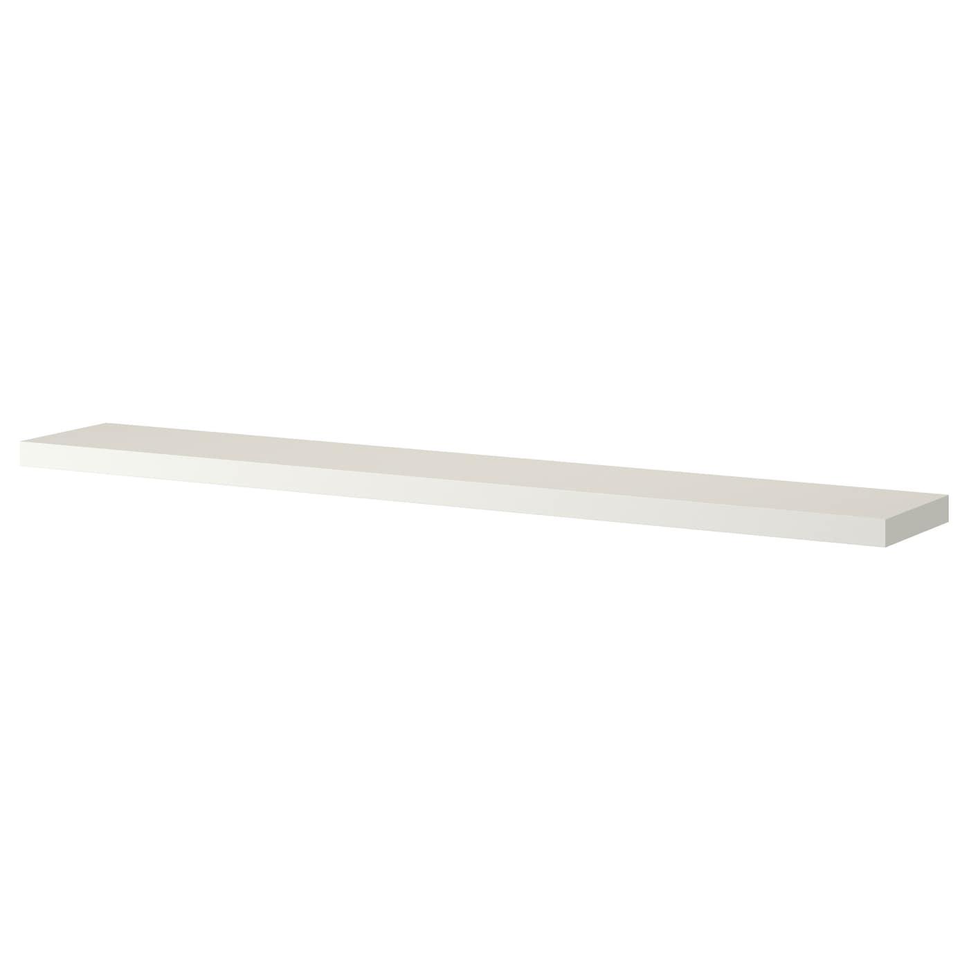 Lack wall shelf white 190x26 cm ikea for Ikea shelf white