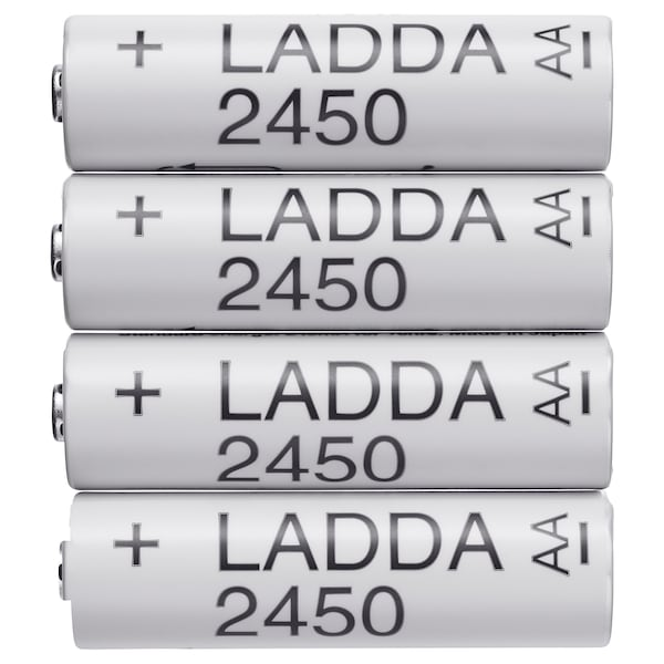 LADDA Rechargeable battery, HR6 AA 1.2V