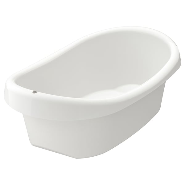 LÄTTSAM Baby bath, white/green