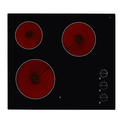 IKEA LAGAN HGC3K glass ceramic hob Smooth tempered glass surface; makes it easy to clean.
