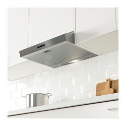 lagan wall mounted extractor hood stainless steel 60 cm ikea. Black Bedroom Furniture Sets. Home Design Ideas