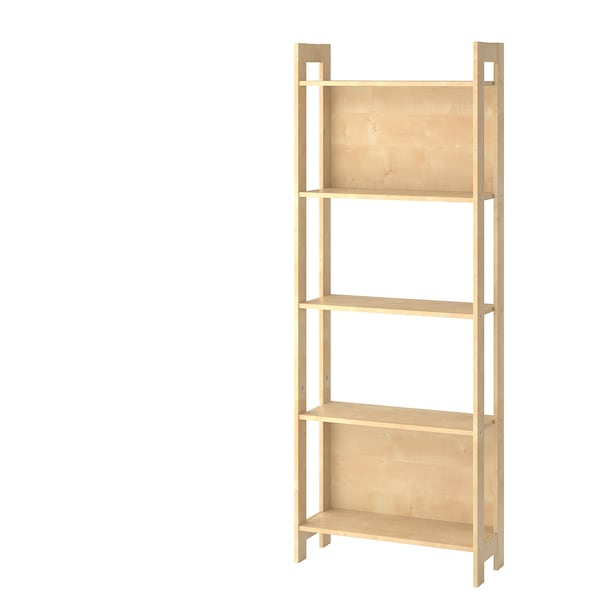 LAIVA Bookcase, birch effect, 62x165 cm