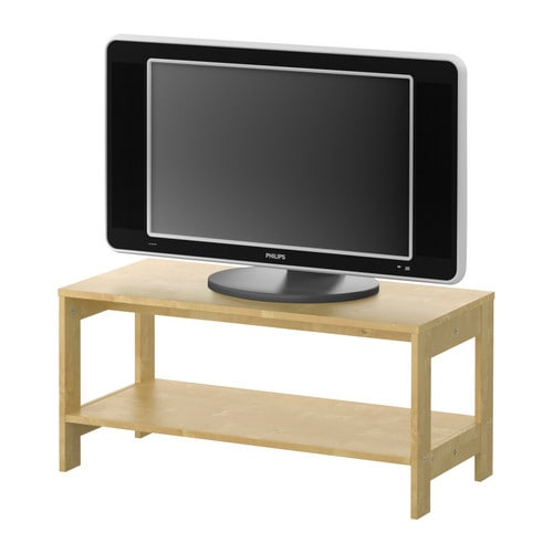 LAIVA TV bench, birch effect Width: 80 cm Depth: 35 cm Height: 37 cm Max. load: 30 kg Max. screen size flat screen TV: 32 ""