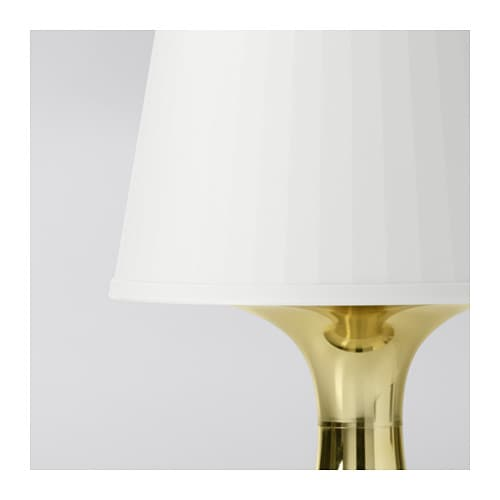lampan table lamp gold colour ikea. Black Bedroom Furniture Sets. Home Design Ideas