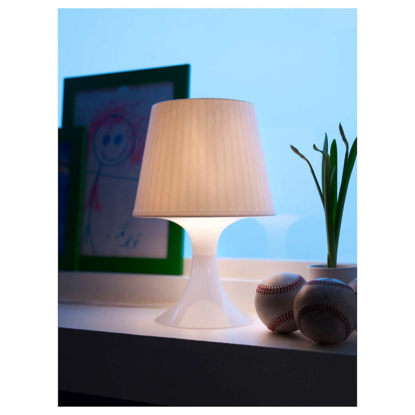 LAMPAN Table lamp orangewhite IKEA