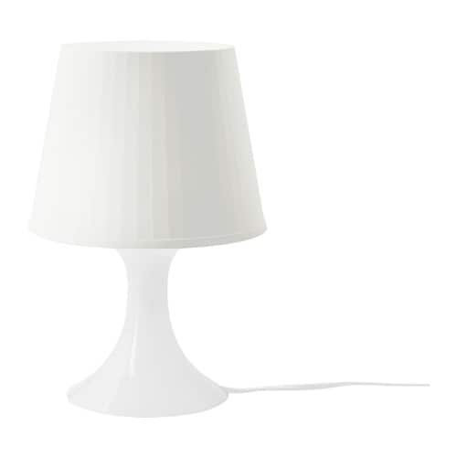Lampan table lamp white ikea for Table ikea 4 99