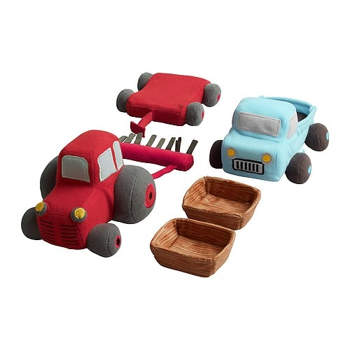 LANDET 6-piece vehicle set IKEA Encourages make-believe play.