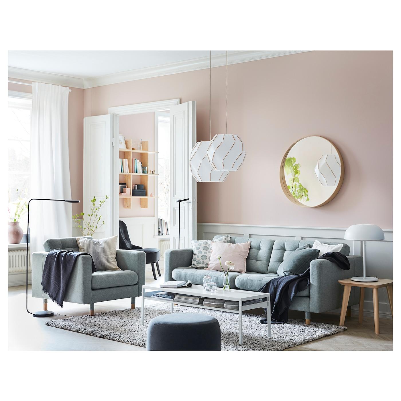 LANDSKRONA 8-seat sofa - Gunnared light green/wood