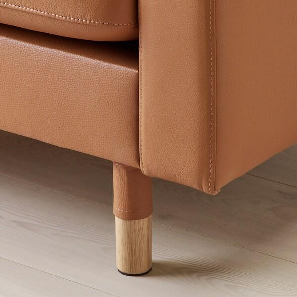 LANDSKRONA 3-seat sofa Grann/Bomstad golden-brown/wood 204 cm 89 cm 78 cm 5 cm 64 cm 180 cm 61 cm 44 cm 4 pack