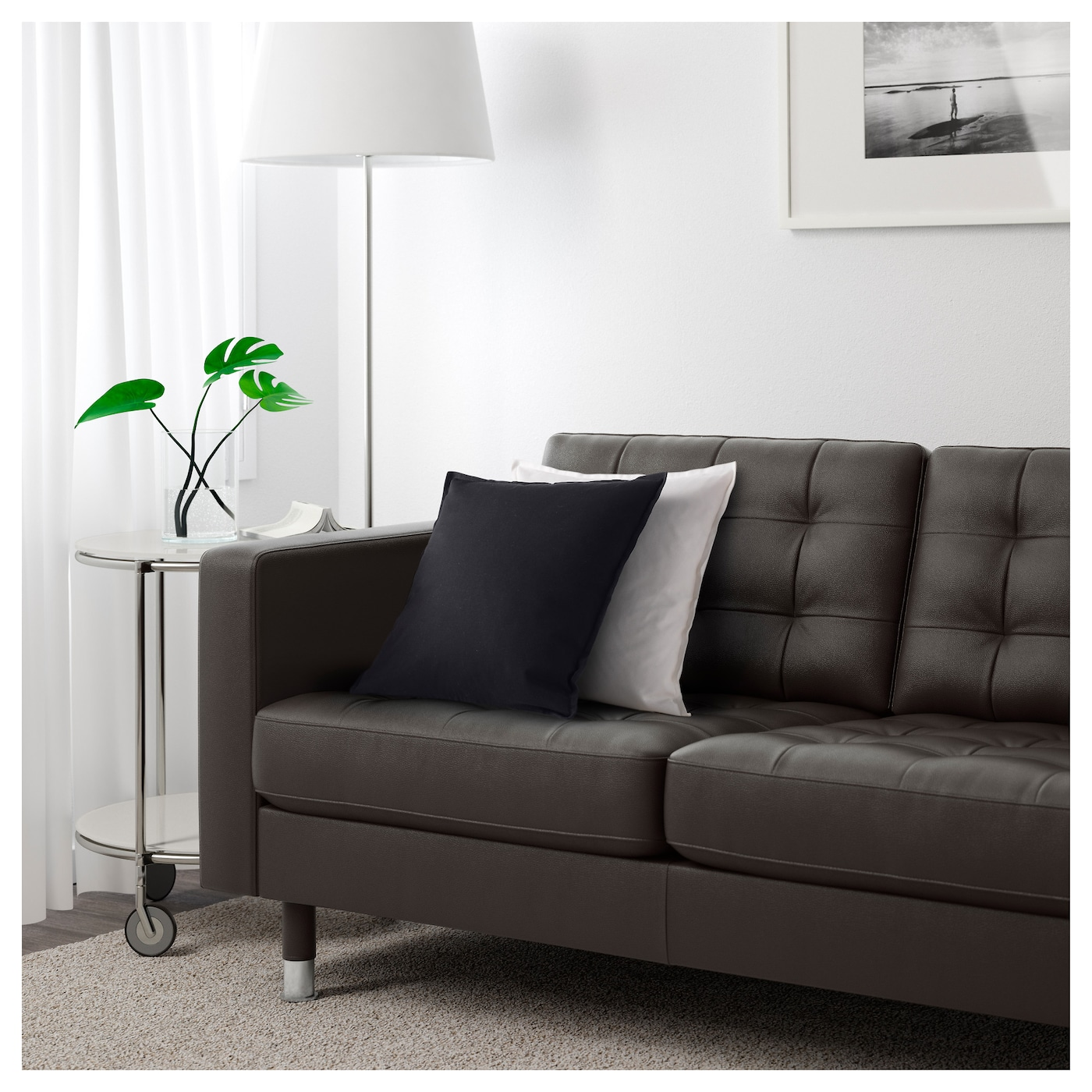 LANDSKRONA 4 seat sofa With chaise longue grann bomstad dark brown