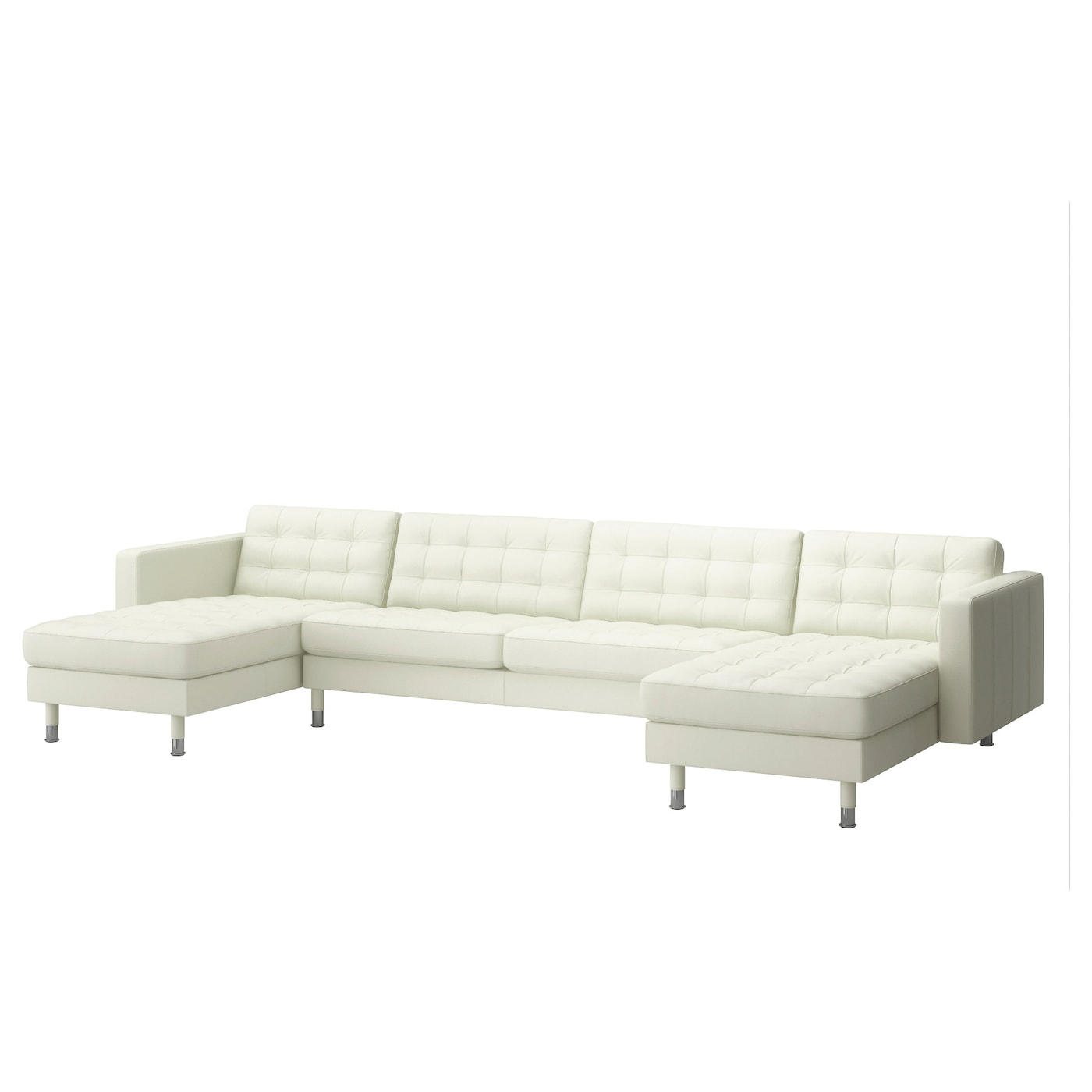 landskrona 5 seat sofa with chaise longues grann bomstad white metal ikea. Black Bedroom Furniture Sets. Home Design Ideas