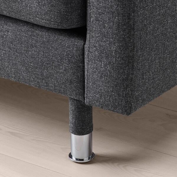 LANDSKRONA Armchair, Gunnared dark grey/metal