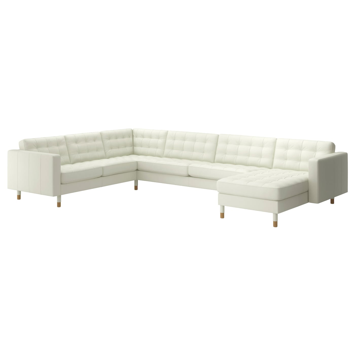 LANDSKRONA Corner sofa 23  32 and chaise longue Grann  bomstad white  wood   IKEA