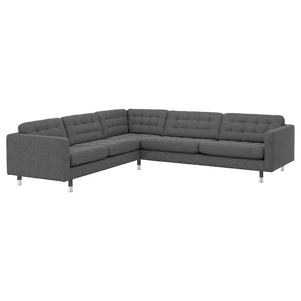 Gunnared Dark Grey Corner Sofa 5 Seat
