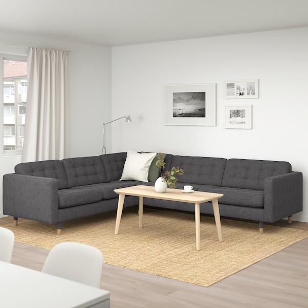 LANDSKRONA Gunnared dark grey, Corner sofa, 5 seat, 89 cm