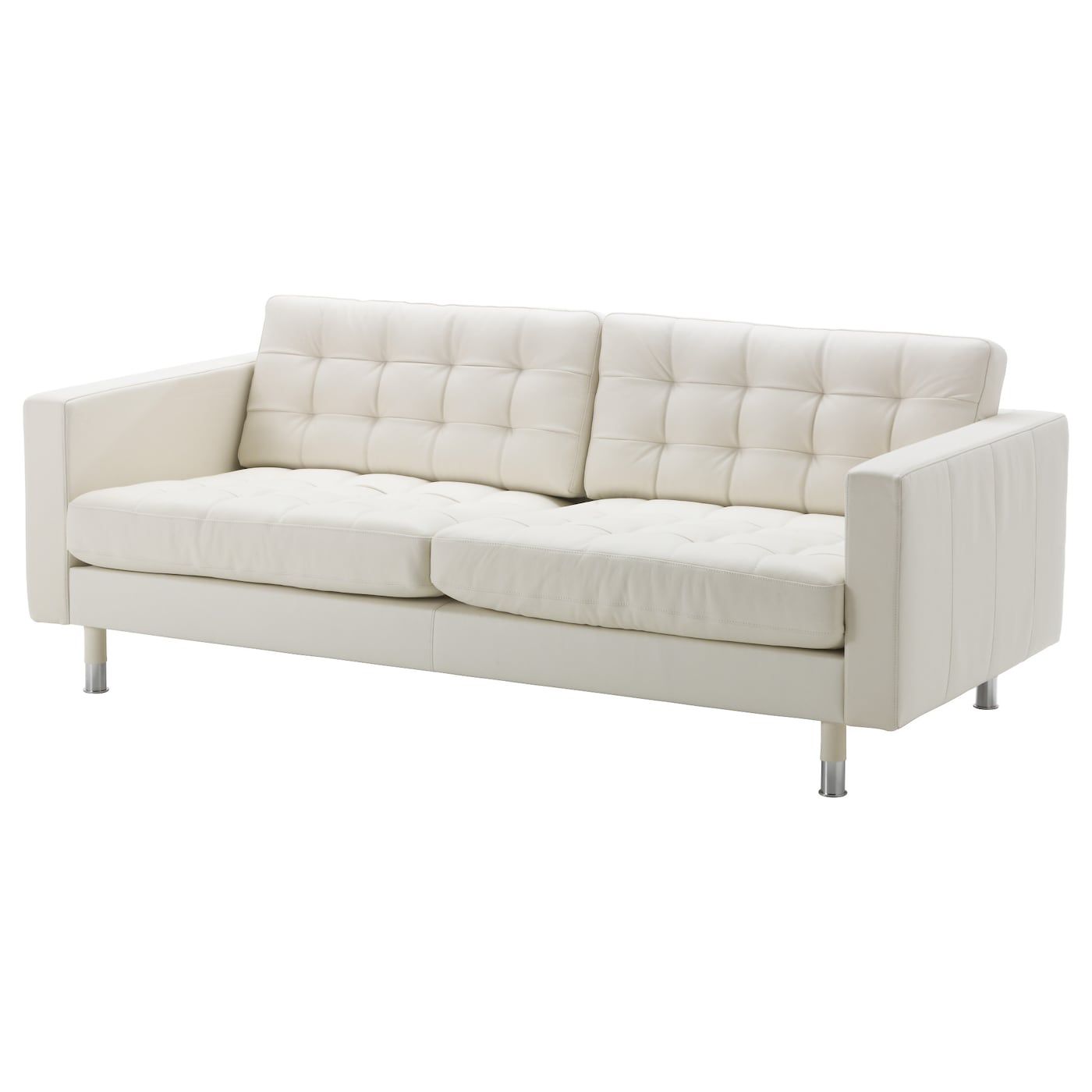 Ikea White Leather Couch Sofas: LANDSKRONA Three-seat Sofa Grann/bomstad White/metal