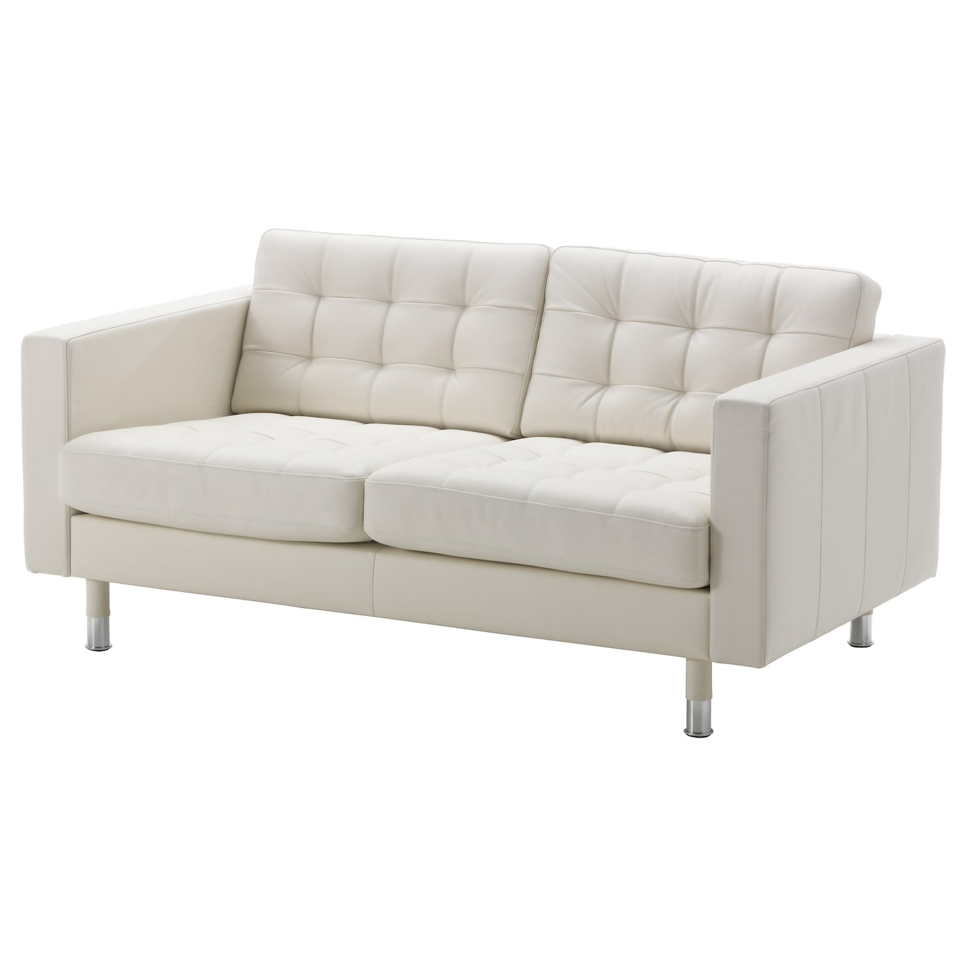 Landskrona two seat sofa grann bomstad white metal ikea for White divan chair