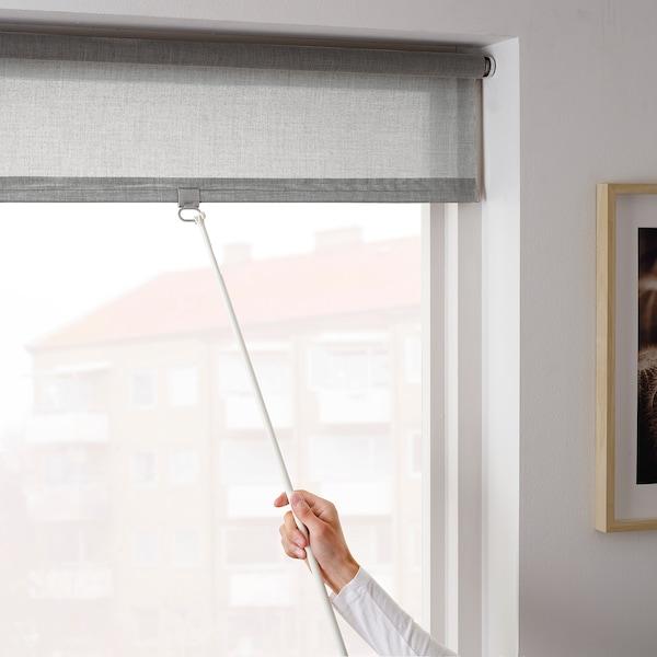 LÅNGDANS Roller blind, grey, 100x195 cm