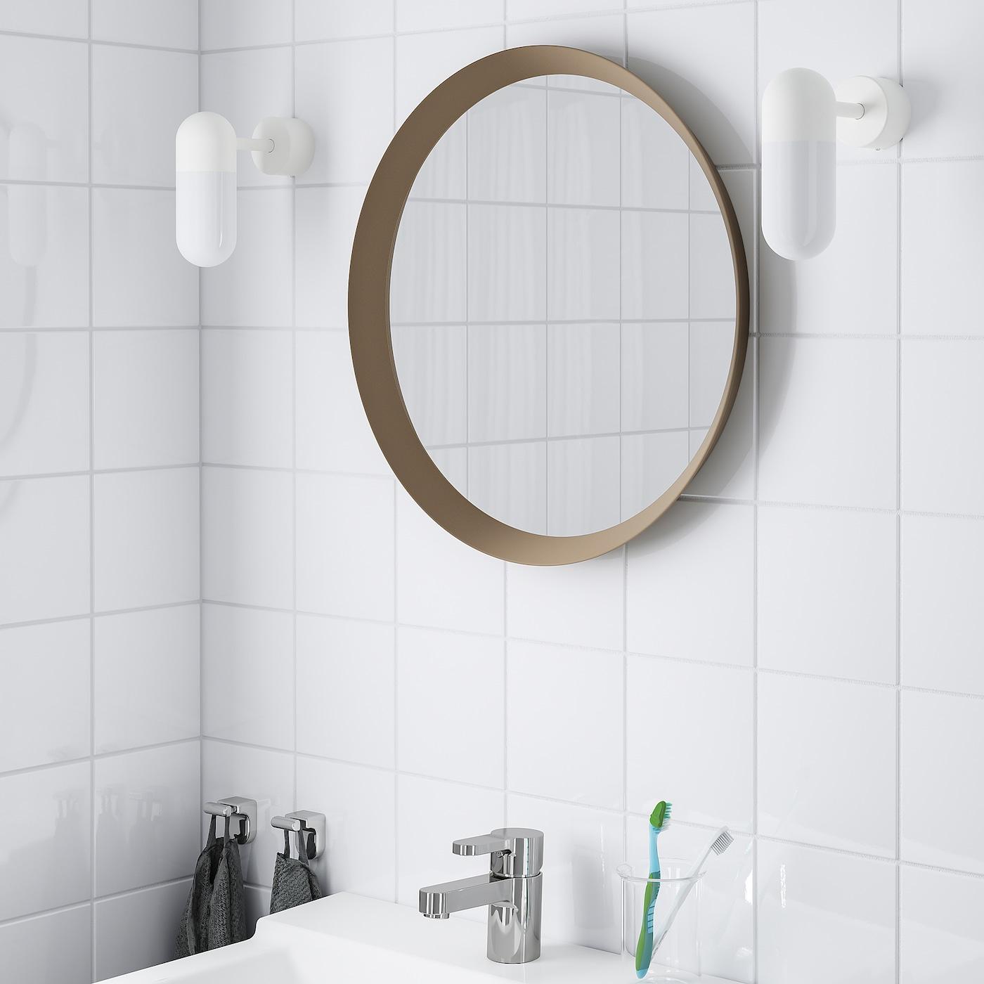 Langesund Beige Mirror 50 Cm Ikea