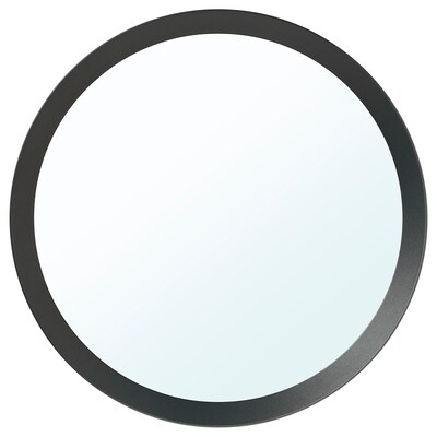 LANGESUND Mirror, dark grey, 50 cm
