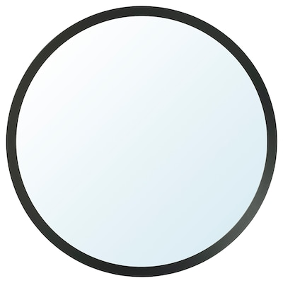 LANGESUND Mirror, dark grey, 80 cm
