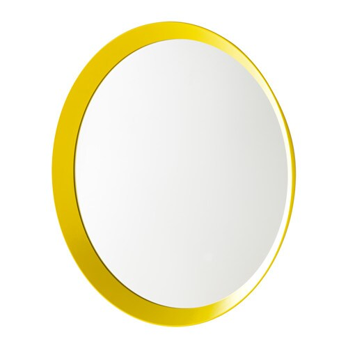 Langesund mirror yellow 50 cm ikea for Miroir rond ikea