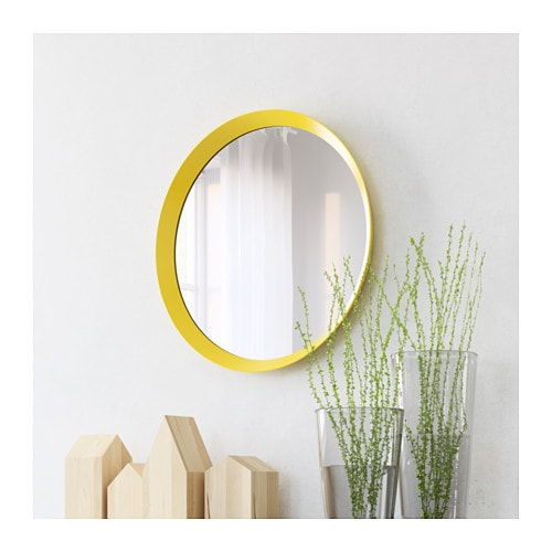 langesund mirror yellow 50 cm ikea. Black Bedroom Furniture Sets. Home Design Ideas