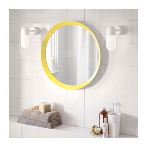 Langesund Mirror Yellow 50 Cm Ikea