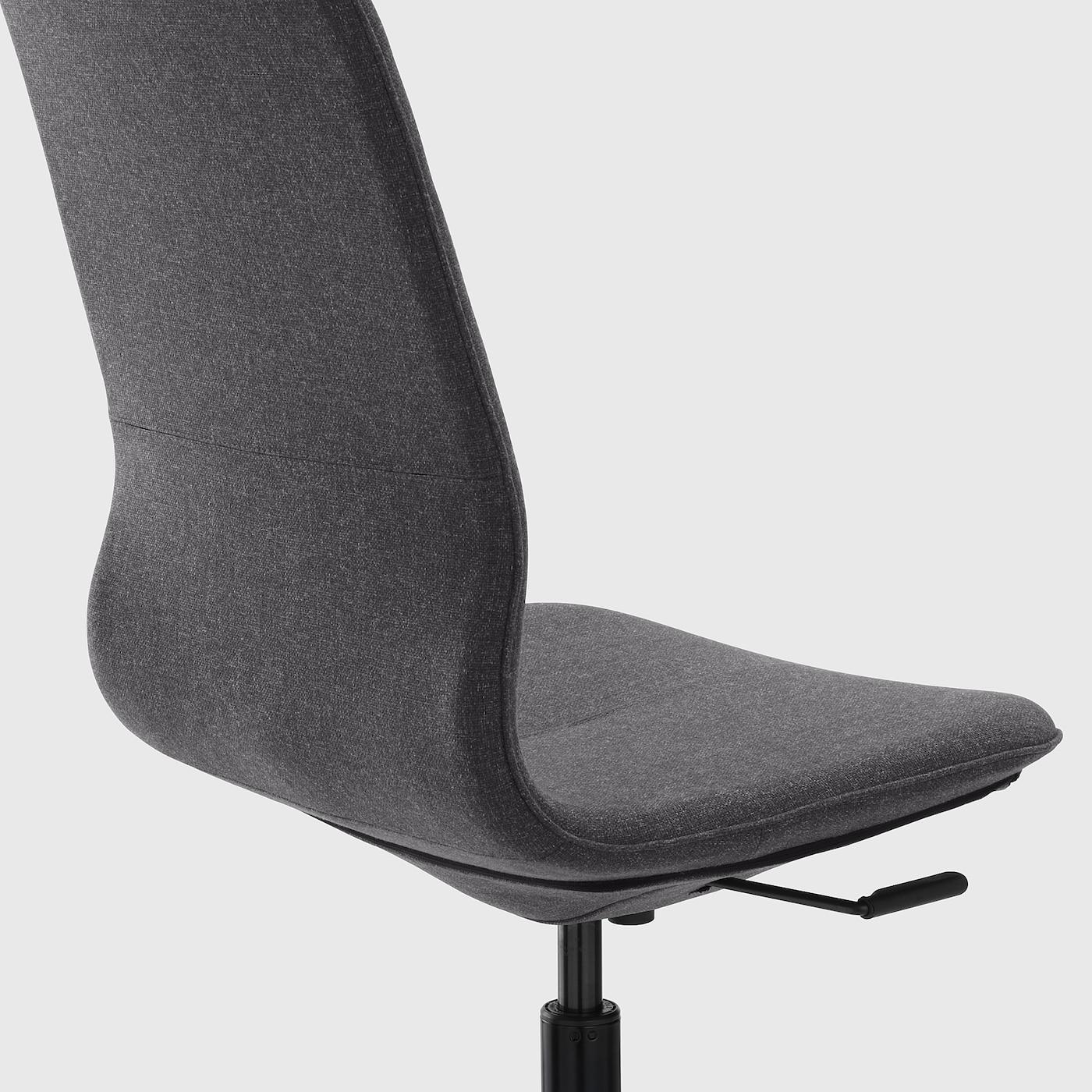 LÅNGFJÄLL Office chair Gunnared dark grey, black