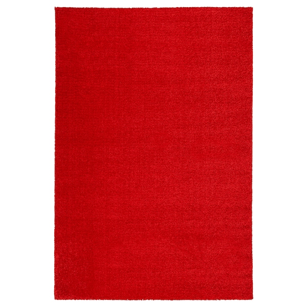 Langsted Red Rug Low Pile Ikea