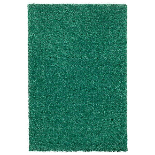 LANGSTED rug, low pile green 195 cm 133 cm 13 mm 2.59 m² 2500 g/m² 1030 g/m² 9 mm