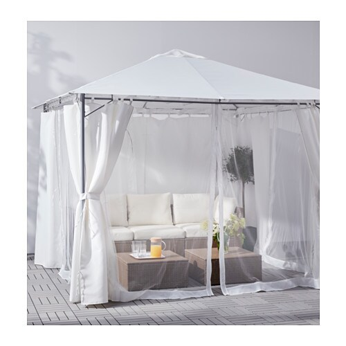 lapp n net for gazebo white ikea. Black Bedroom Furniture Sets. Home Design Ideas