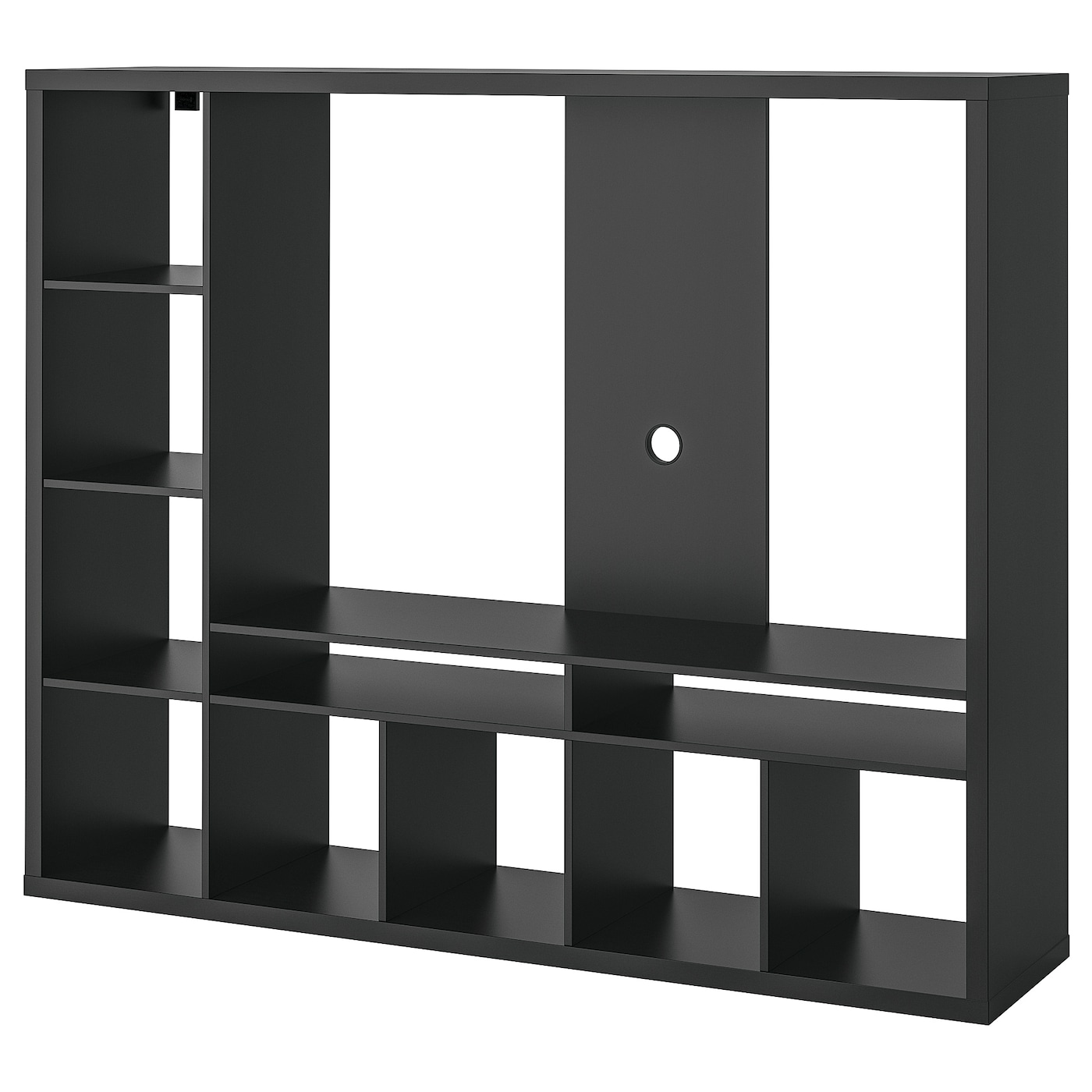 lappland tv storage unit black-brown 183 x 39 x 147 cm - ikea