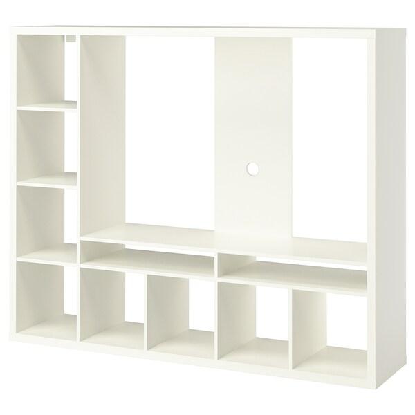 Lappland White Tv Storage Unit 183x39x147 Cm Ikea