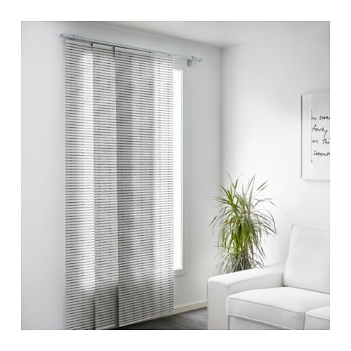 Curtains Ideas black and white panel curtains : LAPPLJUNG Panel curtain White/black 60x300 cm - IKEA