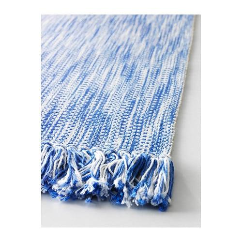 Ikea Rug Holder: LAPPLJUNG Rug, Flatwoven Blue 80x150 Cm